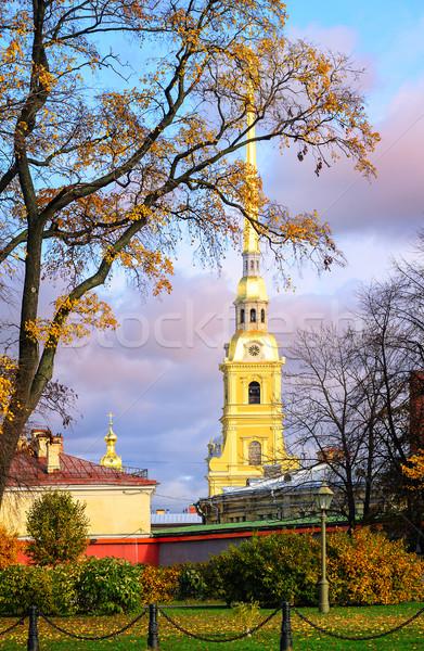 Fortaleza edificio ciudad puesta de sol iglesia viaje Foto stock © Xantana