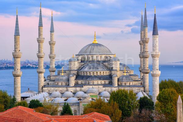 Blue Mosque and Bosporus, Istanbul, Turkey Stock photo © Xantana