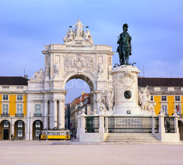 Praca do Comercio square, Lisbon, Portugal Stock photo © Xantana