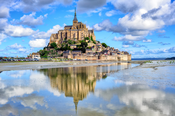 Le Mont-Saint-Michel island, Normandy, France Stock photo © Xantana