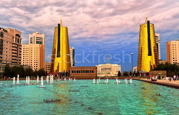 President paleis Kazachstan stad presidents- Stockfoto © Xantana
