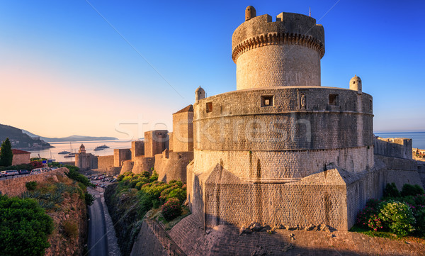 Minceta Tower and Dubrovnik City Walls, Croatia Stock photo © Xantana