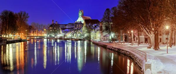 Gothic stad rivier München Duitsland kathedraal Stockfoto © Xantana