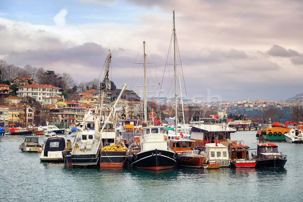груза лодках Стамбуле Турция небольшой рыбы Сток-фото © Xantana