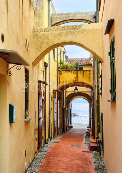 狭い 通り 地中海 海 旧市街 ストックフォト © Xantana