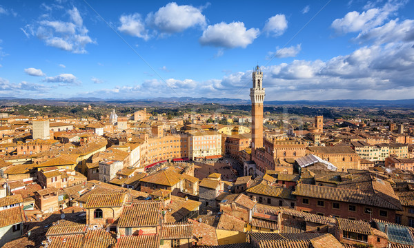 Piazza del Campto, Old Town of Siena, Tuscany, Italy Stock photo © Xantana
