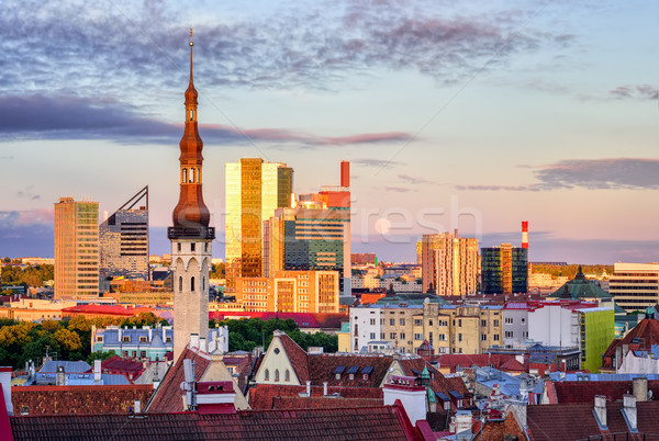 Skyline of Tallinn, the capital city of Estonia Stock photo © Xantana