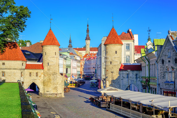 Viru Gate in the old town of Tallinn, Estonia Stock photo © Xantana