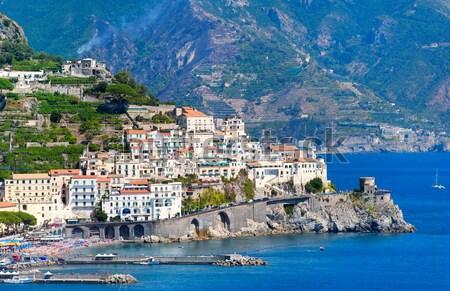 Foto d'archivio: Città · meridionale · Italia · Napoli · costa · golfo