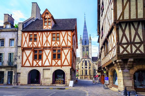 Old town of Dijon, Burgundy, France Stock photo © Xantana