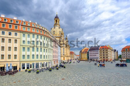 Frauenkirche Church in the old town of Dresden, Germany Stock photo © Xantana