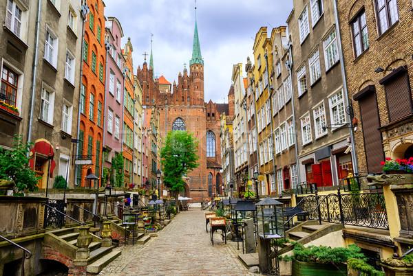 Geleneksel Gotik evler gdansk Polonya Stok fotoğraf © Xantana