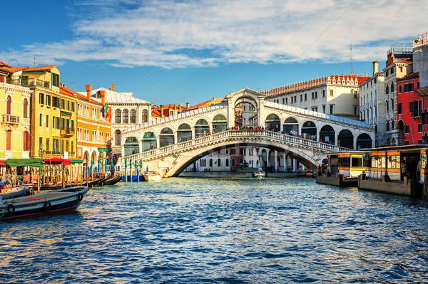 Canal puente casa ciudad azul viaje Foto stock © Xantana