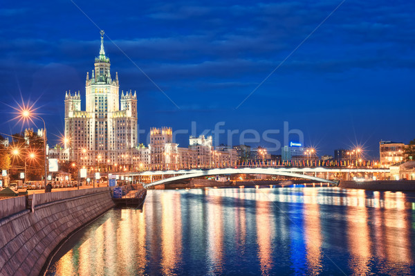 Stock photo: Moscow's historical skyscraper Kotelnicheskaya on Moskva river,