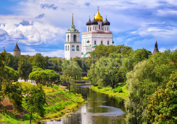 The Pskov Kremlin and Trinity Church, Pskov, Russia Stock photo © Xantana
