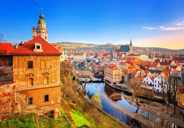 старый город Чешская республика мнение красный плитка Сток-фото © Xantana