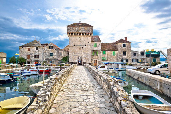 Historic architecture of Kastel Gomilica Stock photo © xbrchx