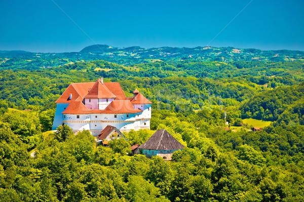 зеленый холмы регион замок мнение Сток-фото © xbrchx