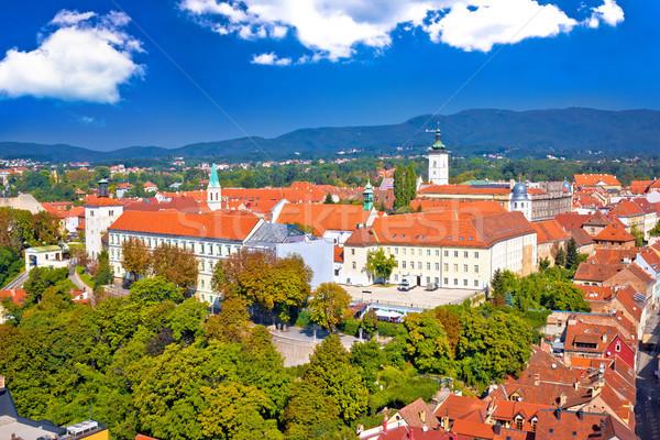 Histórico ciudad Zagreb edificio ciudad Foto stock © xbrchx