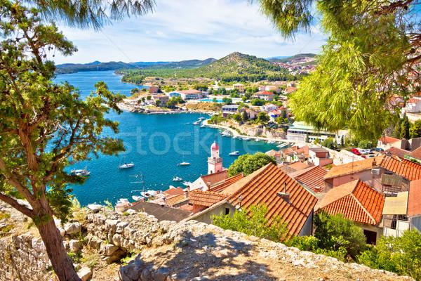 City of Sibenik coast view Stock photo © xbrchx
