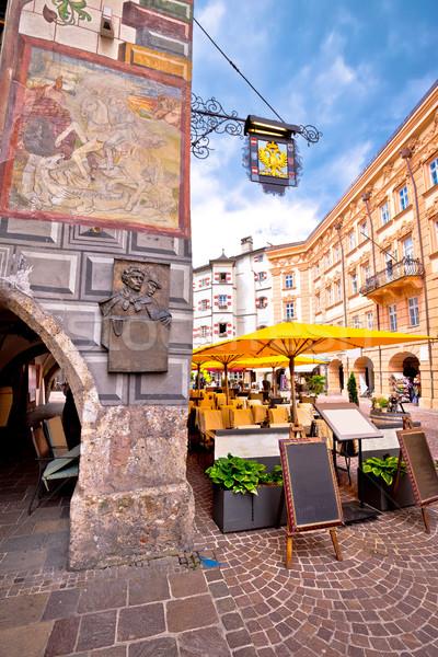Historic street of Innsbruck vertical view Stock photo © xbrchx
