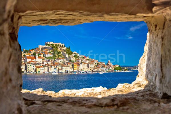 Foto stock: Histórico · cidade · beira-mar · ver · pedra · janela