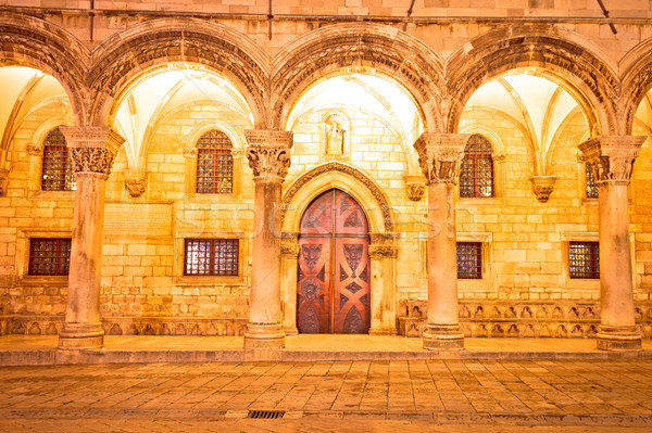 Dubrovnik street historic architecture and arches evening view Stock photo © xbrchx