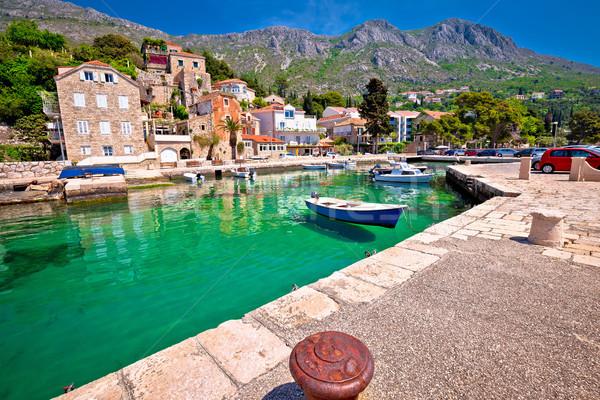 Idilli falu Dubrovnik szigetvilág kilátás dél Stock fotó © xbrchx
