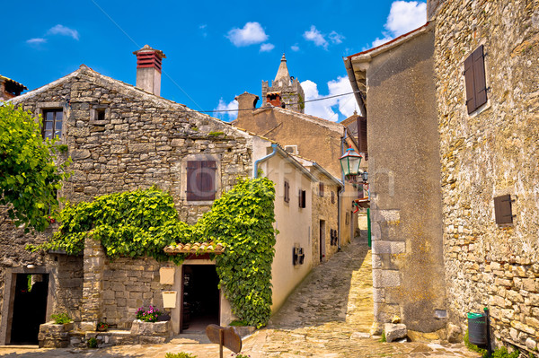Town of Hum old cobbled street view Stock photo © xbrchx