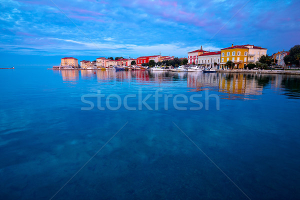 Stock photo: Town of Porec morning sunrise view