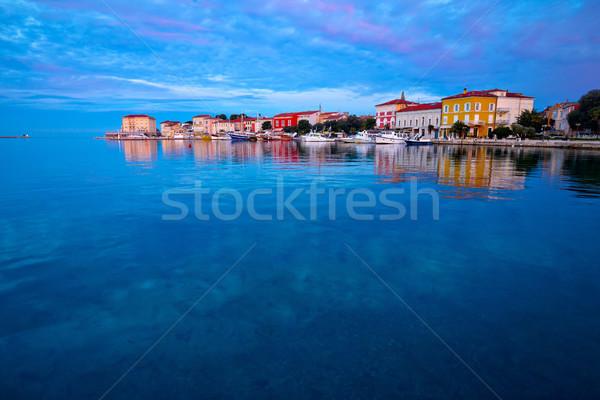 Town of Porec morning sunrise view Stock photo © xbrchx