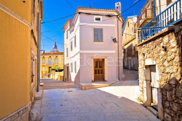 Foto stock: Ciudad · edad · mediterráneo · vista · de · la · calle · isla · Croacia