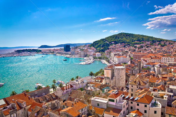 Split waterfront and Marjan hill view Stock photo © xbrchx