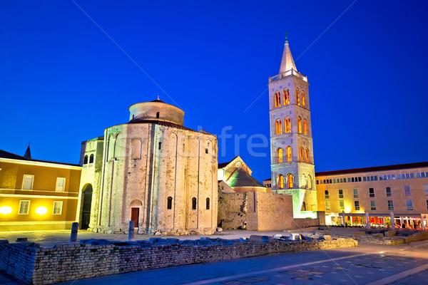 Zadar historic square and church Stock photo © xbrchx