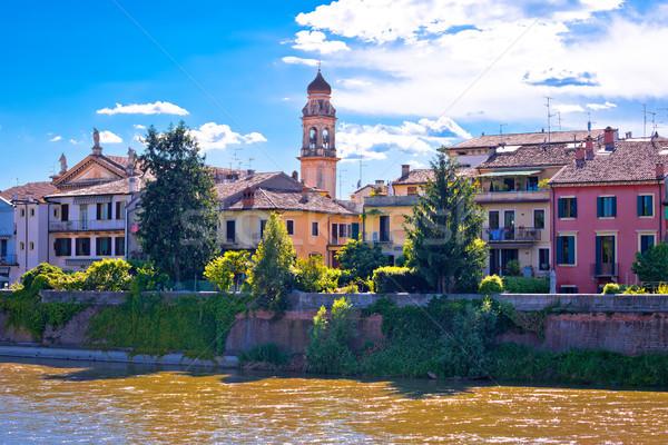 Waterfront of Adige river in Verona view Stock photo © xbrchx