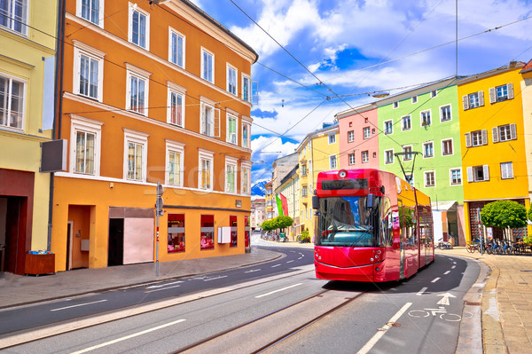 Colorful street of Innsbruck view Stock photo © xbrchx