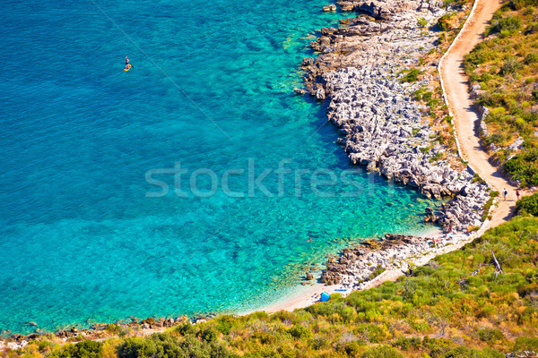 Turquesa playa archipiélago Croacia mar Foto stock © xbrchx