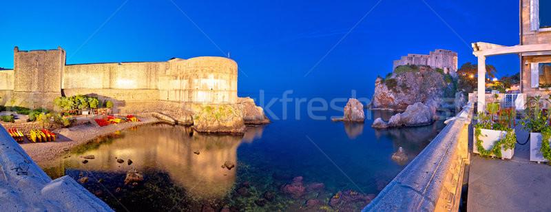 ドゥブロブニク 壁 パノラマ 表示 地域 ストックフォト © xbrchx