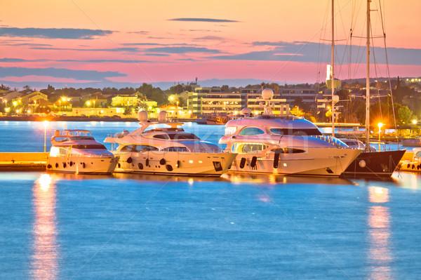 Luxe haven avond natuur zee Stockfoto © xbrchx