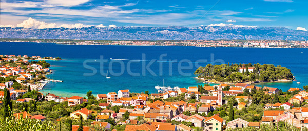 Island of Ugljan waterfront panoramic view Stock photo © xbrchx