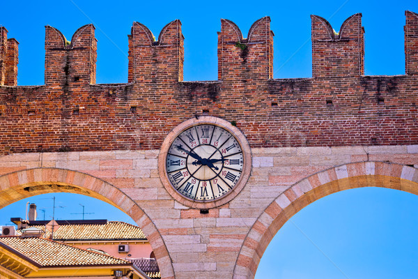 Verona city walls detail view Stock photo © xbrchx