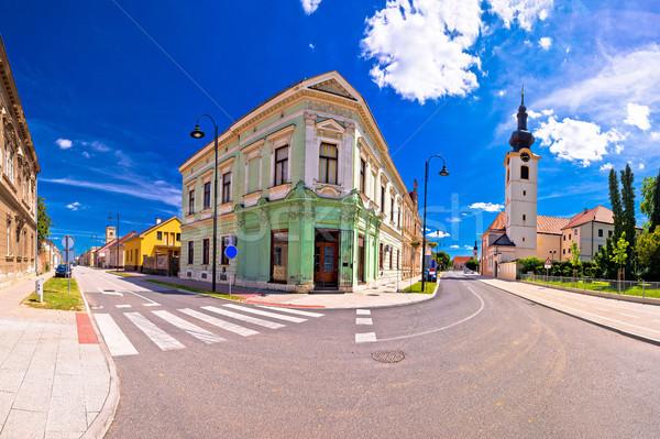 Ciudad edad vista de la calle región cielo casa Foto stock © xbrchx