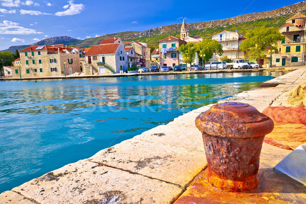 Kastel Kambelovac waterfront and historic architecture view Stock photo © xbrchx