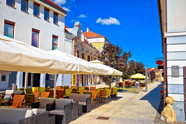 Colorful street of Cakovec view Stock photo © xbrchx