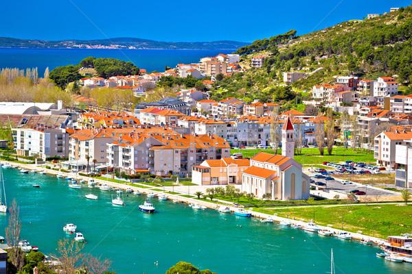 Ciudad costa panorámica vista región Foto stock © xbrchx