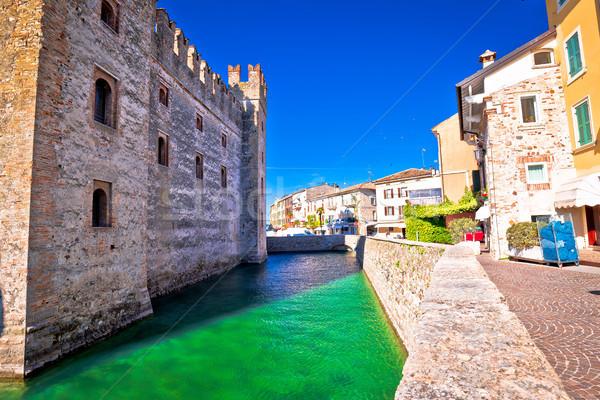 Lago di Garda town of Sirmione landmarks view Stock photo © xbrchx