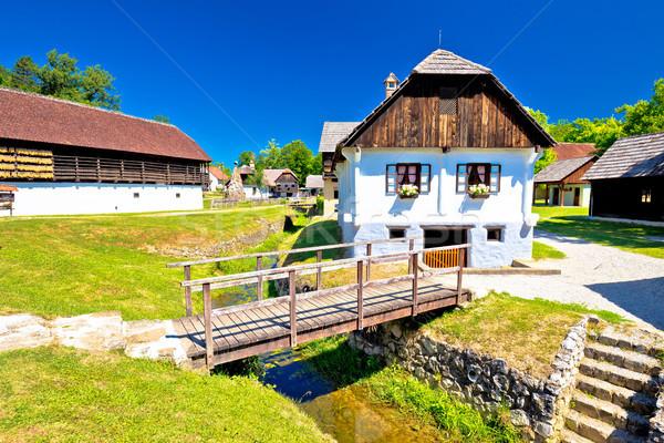 Festői falu régió születés hely vezető Stock fotó © xbrchx