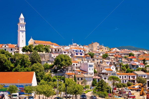 Town of Novi Vinodolski skyline view Stock photo © xbrchx