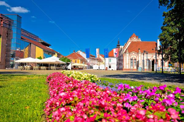Città principale piazza view fiore parco Foto d'archivio © xbrchx