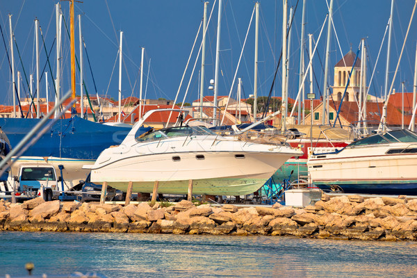 Iate secar doca marina ver mediterrânico Foto stock © xbrchx